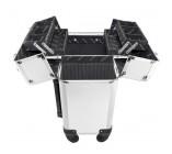 (MALETAS) Maleta Profissional com Rodinhas de 360º Prata Aluminio