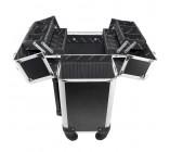 (MALETAS) Maleta Profissional com Rodinhas de 360º Preta Aluminio