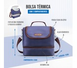 Bolsa Térmica c/ 2 compartimentos - For Men